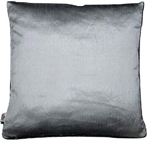 Funda de cojín Ruwado Basics gris plata con cremallera ...