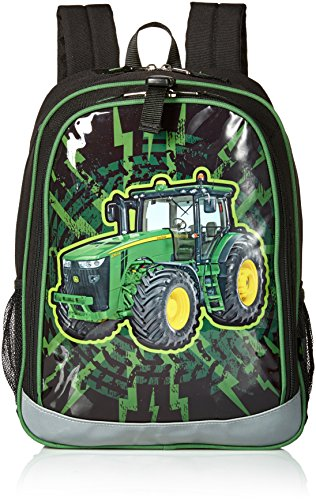 John Deere Boys' Backpack, Black Green
