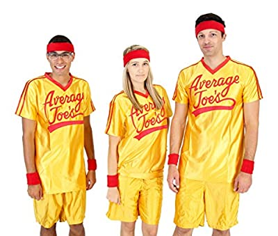 Dodgeball Average Joe's Adult Yellow Jersey Costume Set