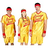 Dodgeball Average Joe's Adult Yellow Jersey Costume Set (Adult X-Large)