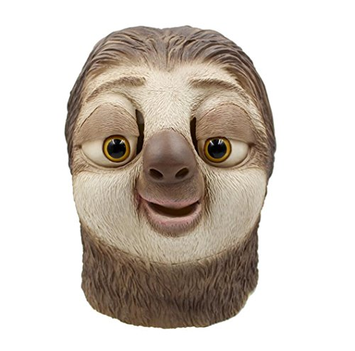 Big Mango Deluxe Novelty Halloween Costume Party Latex Animal Head Mask for Adults&Children (Sloth) ()