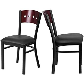 Amazon Com Modern Style Metal Dining Chairs Bar Restaurant