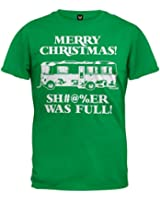 Christmas Vacation Shitter Was Full Mens Green T-shirt XXL