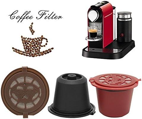 TAOtTAO - Cápsulas de café reutilizables para máquinas Nespresso 52 * 47mm marrón