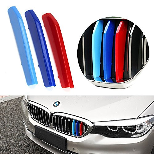 lanyun M Colors 5 Series Grill Stripes G30 G31 Grille Insert Trims Decorate for 2017-up BMW G30 G31 5 Series 520i 530i 540i 550i 9-Beam Kidney Grille (17-up G30 G31 5 Series 9-Beam Grille Insert) ()