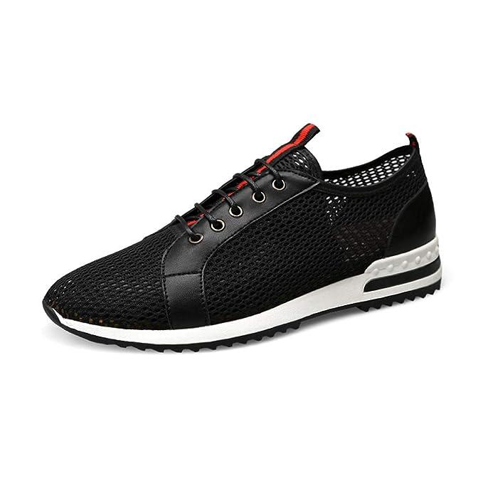 1e7697aa GYYFC De los hombres Malla Zapatos casuales Antideslizante Respirable  Zapatos para correr Lazo delantero Empalme Zapatos de red Al aire libre A  pie ...
