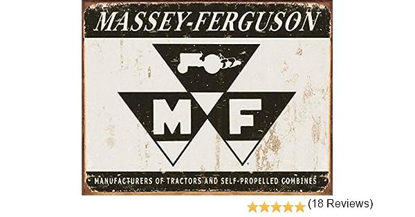 Amazon Massey Ferguson Logo Tin Sign 16 X 12in Home Kitchen
