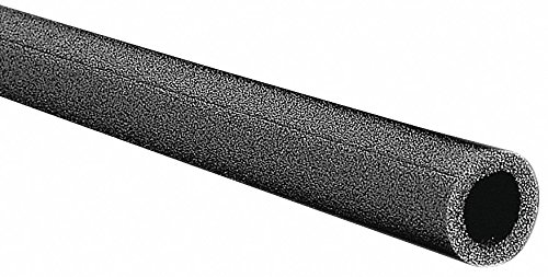 Tundra 3/4 Thick, Pre-Slit Polyethylene Pipe Insulation, 6 ft. Insulation Length Black 6XE068238-1 Each