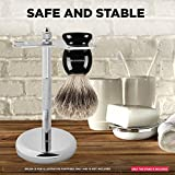 Perfecto Deluxe Chrome Razor and Brush Stand - The