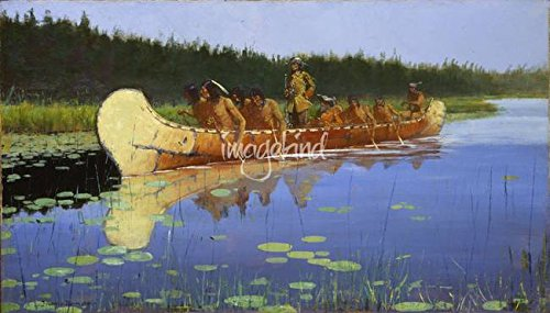 wall-art-print-entitled-radisson-and-groseilliers-by-frederic-remington-by-celestial-images-48-x-27