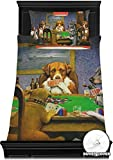 RNK Shops Dogs Playing Poker 1903 C.M.Coolidge Duvet Cover Set - Toddler