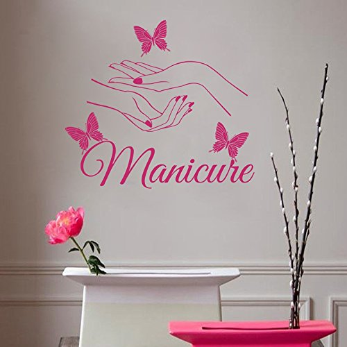 Hair salon decorations amazon custom beauty hair salon nail butterfly wall stickers decal kids room wall personalized name nursery decoration you choose name teraionfo