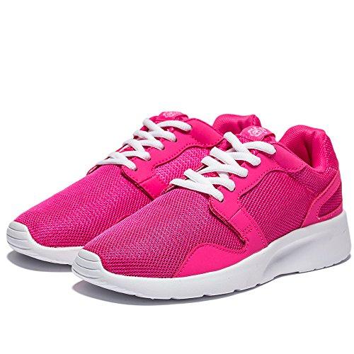 NeedBo Herren und Damen Unisex Runnning Schuhe Leichte Flexible Athletic Sneakers Sport Trail Schuh Orange