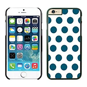 Iphone 6 Plus Case 5.5 Inches, Diy Polka White and Dark Green Dot Fashion Black Phone Protective Speck Cover Case for Apple Iphone 6 Plus Accessories
