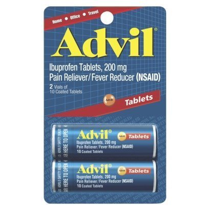 Advil Ibuprofen Pain Reliever/Fever Reducer Tablets, 200mg, 10 count (Pack of, 2) (Advil Ibuprofen Pain Reliever)