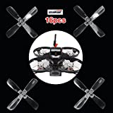 ARRIS Gemfan 2035BN 2035 4-Blade High Efficiency Propellers 2-inch 4-blade Props for 1103 1104 1105 Brushless Motor, Designed for Micro Mini Racing Quadcopter Drone - 16PCS
