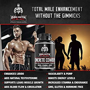 Goliath by Dr. Emil Concrete Cowboy - Male Enhancement Supplement for Libido & Testosterone Boost, Muscle Growth & Endurance (60 Veggie Capsules) natural male libido enhancement - 51jpeNdpzvL - natural male libido enhancement