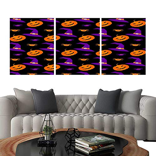 Triptych Paintings Combination DecorativeHappy halloween abstract seamless pattern background Abstract halloween pattern for design card party invitation poster album menu t shirt bag print etc 1.jp