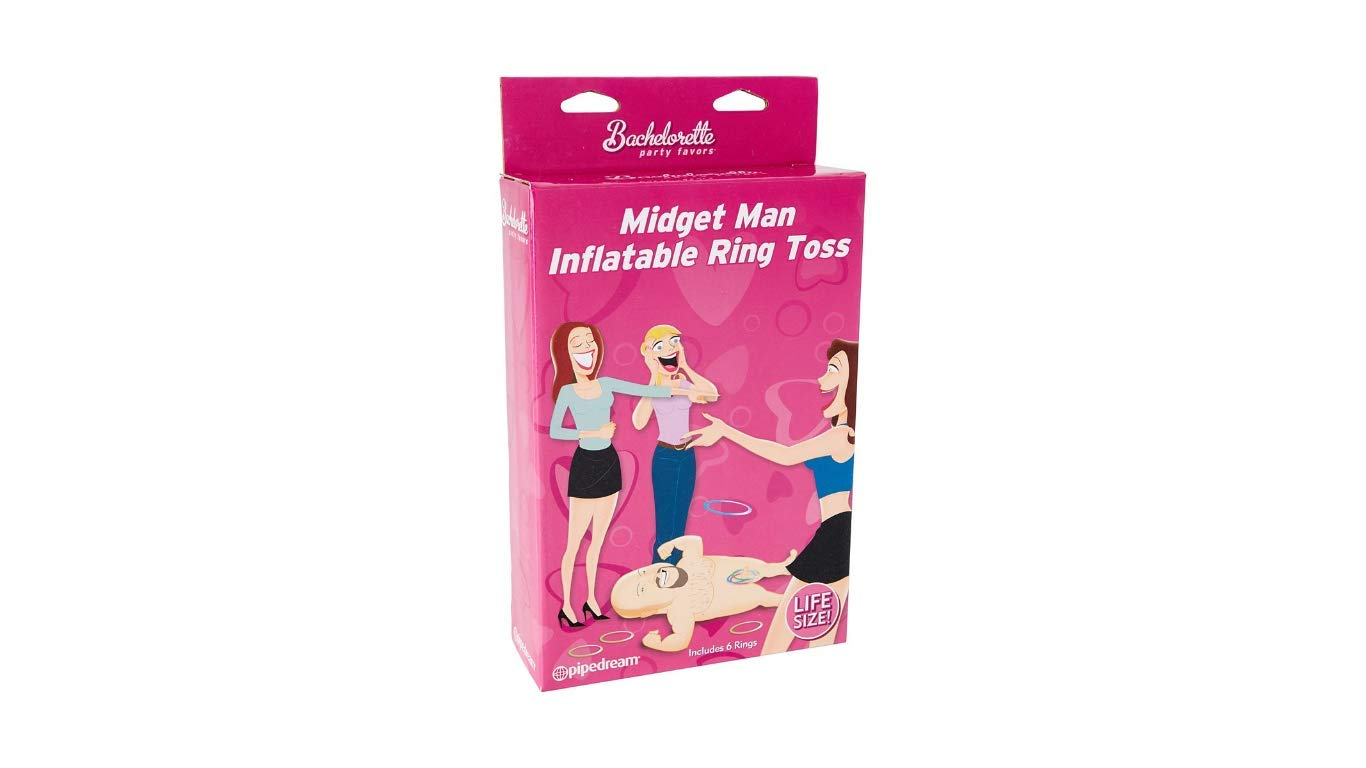 Bachelorette Party Favors Game Midget Man Inflatable Ring Toss Dirty Version of Ring Toss Game by Generic (Image #2)