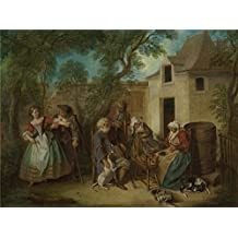 'Nicolas Lancret The Four Ages of Man Old Age ' oil painting, 18 x 24 inch / 46 x 61 cm ,printed on polyster Canvas ,this Replica Art DecorativeCanvas Prints is perfectly suitalbe for Kids Room decor and Home decoration and Gifts