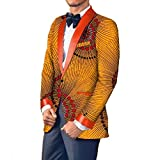 Comaba Men Casual Dashiki Small Blazer Africa Cotton Classic Suit Jacket 21 L
