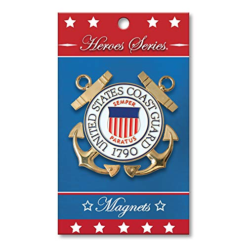Allied Products Heroes Series Coast Guard Medallion Small Magnet - 2.5