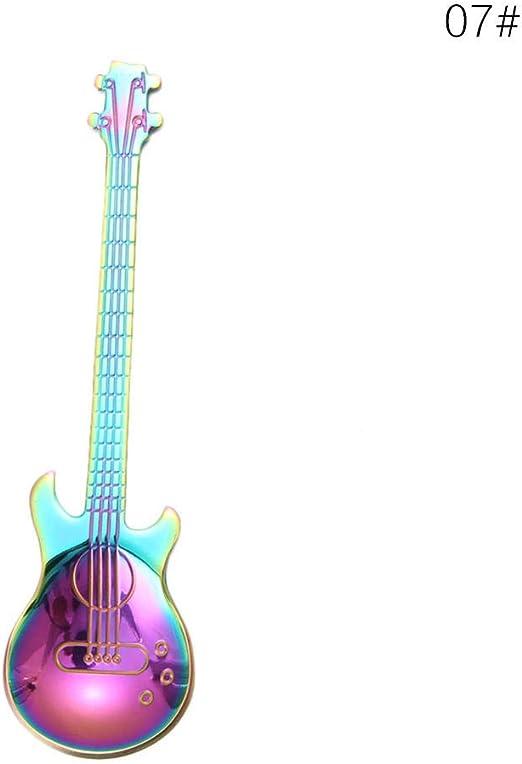Cuchara De Acero Inoxidable 1Pcs Cuchara De Guitarra De Dibujos ...