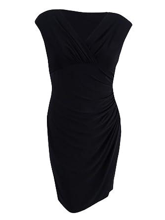 6d8e72bd2330a LAUREN RALPH LAUREN Womens Ruched Sleeveless Semi-Formal Dress at Amazon  Women s Clothing store