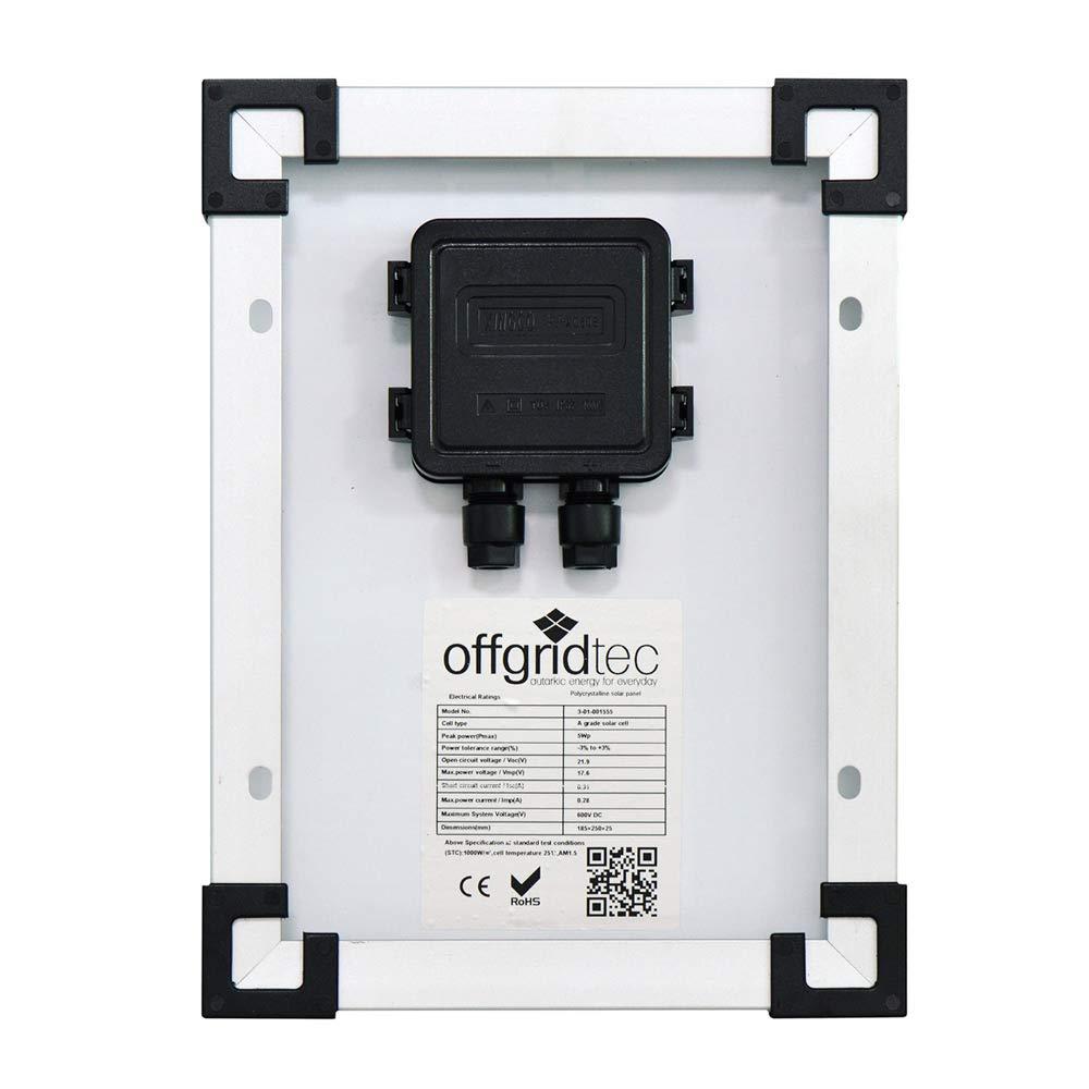Offgridtec - Módulo solar (5 W, POLY 12 V, 3-01-001555): Amazon.es: Industria, empresas y ciencia