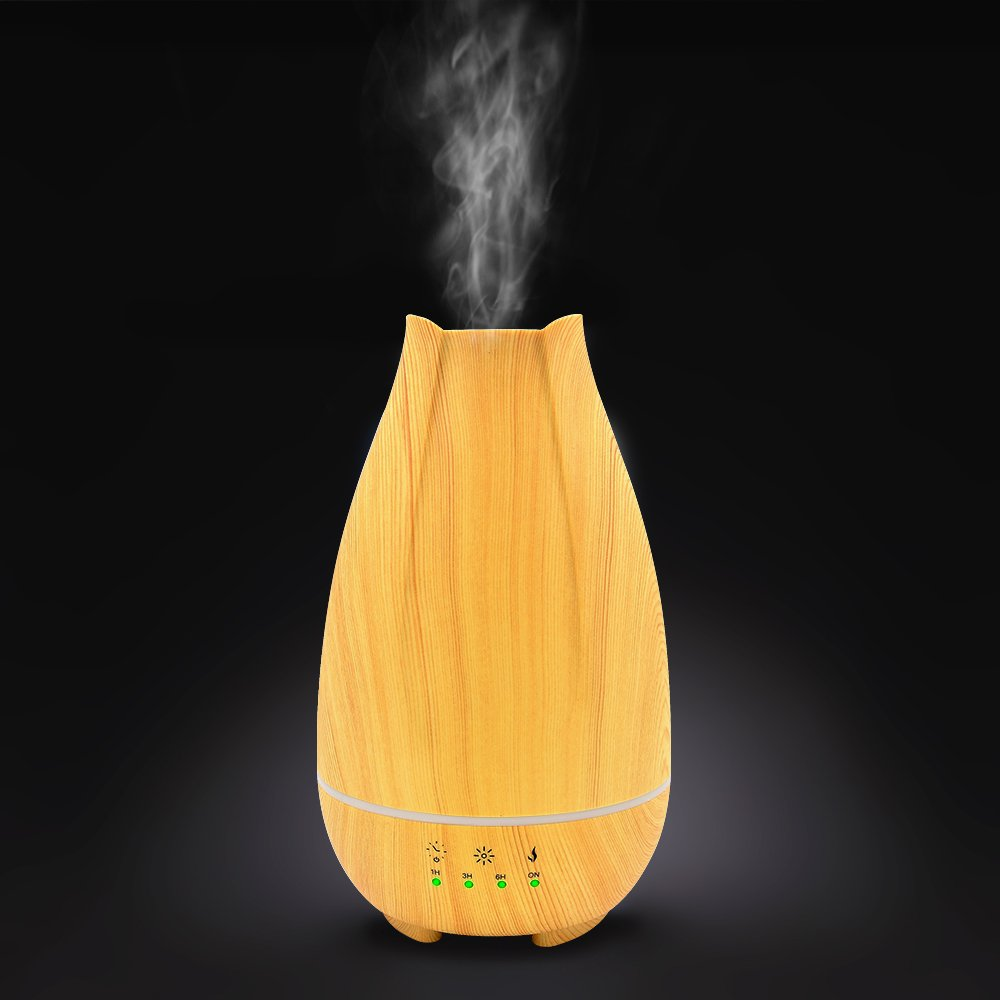 500ml Cool Mist Humidifier,Wood Grain Ultrasonic Aromatherapy Diffuser with Timer,Touch Button Control,Waterless Auto Shut-Off,7 Color LED Lights by Sweet sex (Image #9)