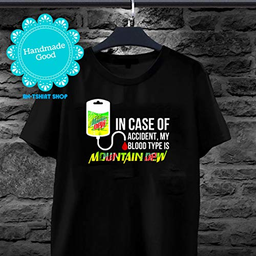 (In Case Of Accident My Blood Type Is Mountains Tee Dews Men Women)