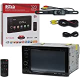 2017 BOSS Audio Car audio Double Din 2DIN 6.2 Touchscreen DVD MP3 CD stereo built-in Bluetooth + Remote & DCO Waterproof Backup Camera with Nightvision