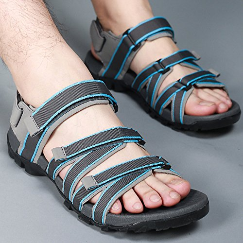 Xing Lin Sandalias De Hombre Los Hombres Sandalias De Cuero Sandalias Verano Deportes Para Hombres Sandalias Zapatos Xxl Blue 2029 old blue