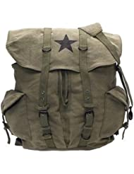 Rothco Vintage Weekender Canvas Backpack with Star