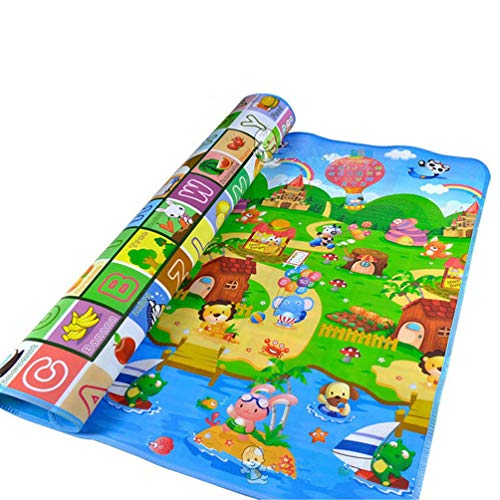 Jim Hugh Play Mats for Baby Kid Toddler Cute Crawl Play Game Picnic Carpet Letter Alphabet Farm Mat Funny Play Mats ()