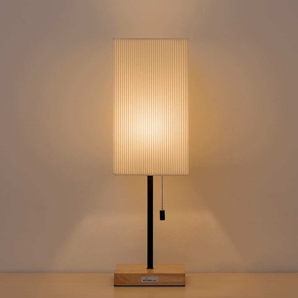 Haitral Bedside Table Desk Lamp Japanese Style