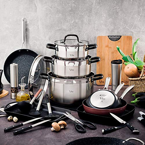 Amazon.com: San Ignacio Set of Nylon Kitchen Utensils, Black, 0: Kitchen & Dining