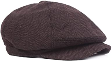 GESDY Mens Cotton Flat Newsboy Cap Ivy Cabbie Berets Driving Hats