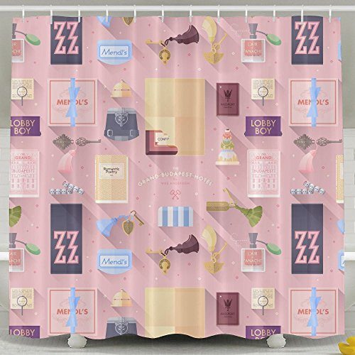 Costume Breakdown Programs (Shower Curtain Grand Budapest Hotel Printing Anti Bacterial Waterproof Polyester Shower Curtain 6072inch Non Toxic Eco-Friendly No Chemical Odor Rust Proof Grommets)