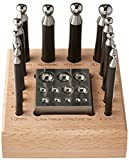 SE JT34512DPBB 14 Pc. 2-in-1 Dapping Block and 12 Pc. Punch Set