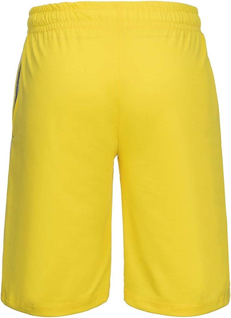2-Piece Fashion Suit Mens Summer Leisure Stripe Color Collision Short Sleeve Shorts Sports Thin Sets