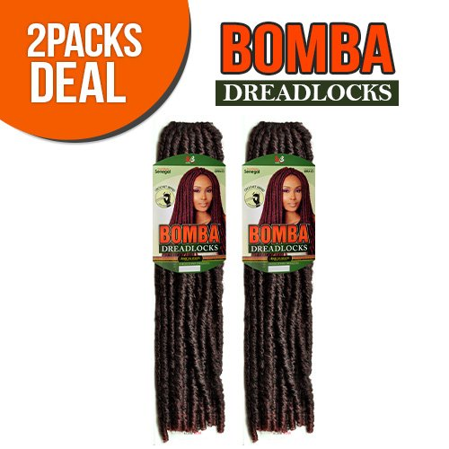 Bobbi Boss Synthetic Hair Crochet Braids Bomba Dreadlocks Faux Locs Soul (2-Pack, M1B/30)