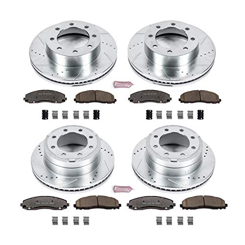 (Power Stop K6405-36 Z36 Truck & Tow Front and Rear Brake Kit)