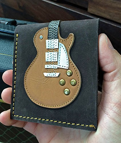 Honey Burst Single Cutaway Electric Guitar Wallet - Handmade - Genuine