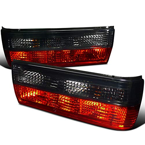 Velocity Concepts For Bmw E30 325 318 2 4 Door Convertible Coupe Sedan, Red Smoked Tail Lights Lamps ()