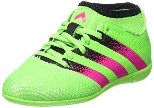 adidas Ace 16.3 Primemesh In J, Chaussures de Football Mixte Bébé Vert / Rose / Noir (Versol / Rosimp / Negbas)