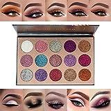 15 Colors Glitter Eyeshadow Palette Shimmer Ultra