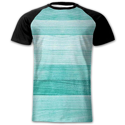 Newfood Ss Painted Wood Texture Penal Horizontal Lines Birthdays Easter Holiday Print Backdrop Men's Short Sleeve Raglan T L (Best Texture For Fleshlight)