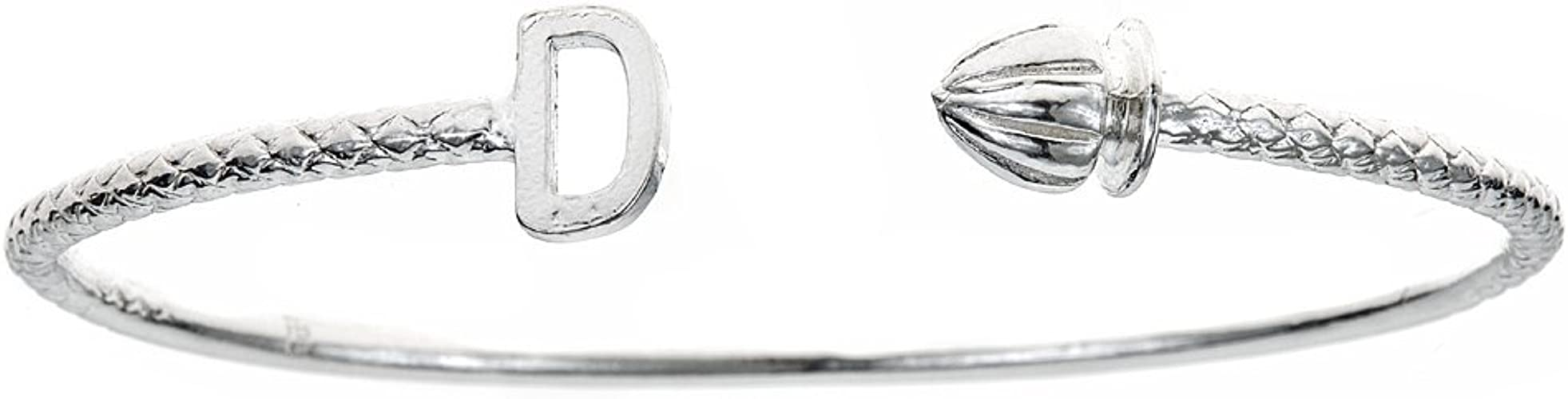 """Fist .925 Sterling Silver West Indian Bangle 7.5/"""" MADE IN USA"""