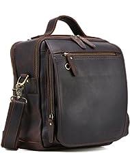 Tiding Leather Handmade Messenger Satchel Crossbody Shoulder Handbag Vintage Weekend Bag